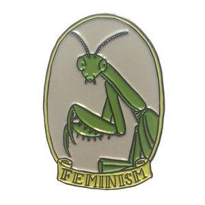Jewelry - COMING SOON! Praying Mantis Feminism Enamel Pin